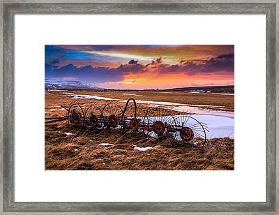 Iceland Sunset # 1 Framed Print by Tom and Pat Cory