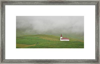 Framed Print featuring the photograph Icelandic Chapel by Joe Bonita