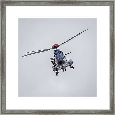 Icelandic Coast Guard On A Training Framed Print