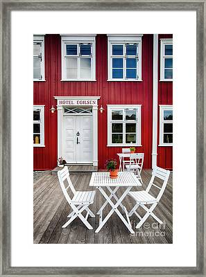 Icelandic Country Inn Entrance Framed Print