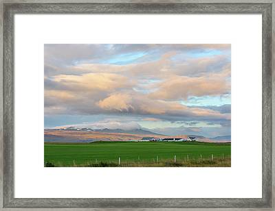 Framed Print featuring the photograph Icelandic Farmhouse by Brad Scott