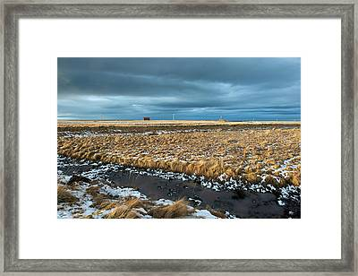 Framed Print featuring the photograph Icelandic Landscape by Dubi Roman