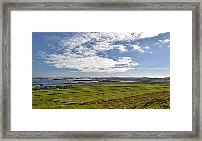 Framed Print featuring the photograph Icelandic Panorama by Joe Bonita