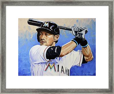 Ichiro Framed Print