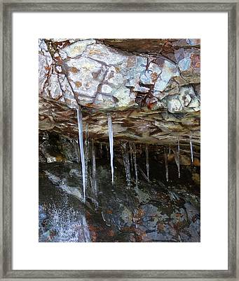 Framed Print featuring the photograph Icicle Art by Doris Potter