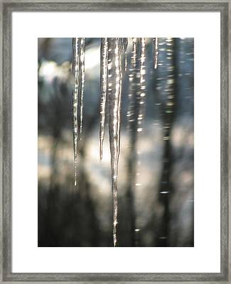 Icicle Art Fun 13 Framed Print by Debra     Vatalaro