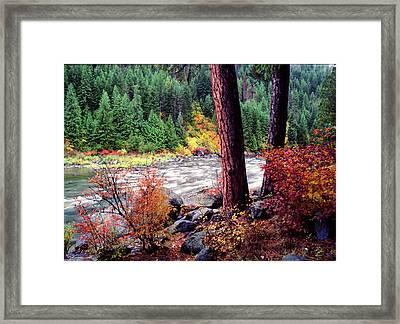 Icicle Creek Framed Print by Bob Groshart