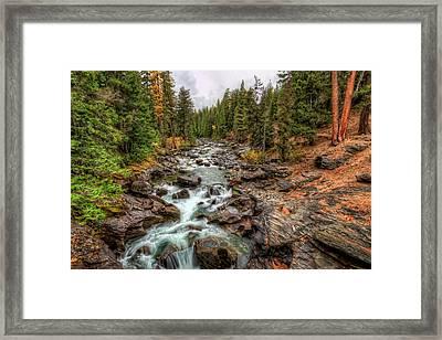 Icicle Gorge 2 Framed Print by Brad Granger