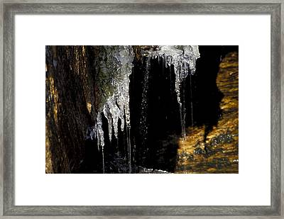 Icicles 2 Framed Print by Richard Steinberger