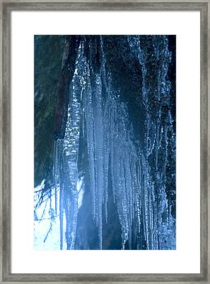 Icicles  5 Framed Print by John Higby