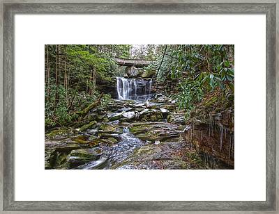 Icicles At Elekala Framed Print