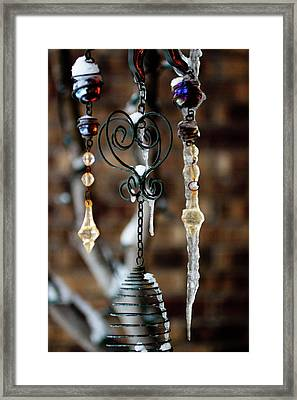 Icicles Framed Print