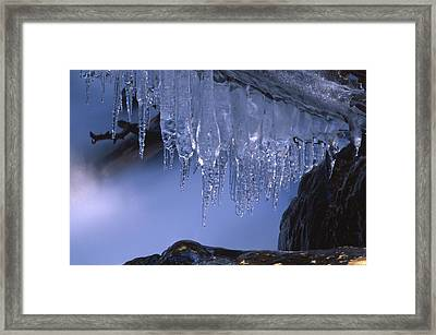 Icicles - North Fork Bishop Creek Framed Print by Soli Deo Gloria Wilderness And Wildlife Photography