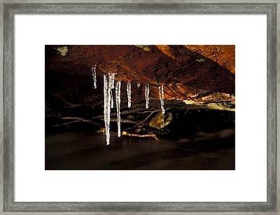 Icicles Framed Print by Richard Steinberger