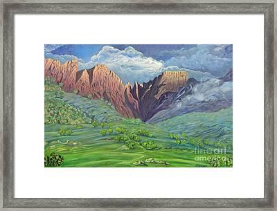 Icidi Valley Framed Print by Caroline Street