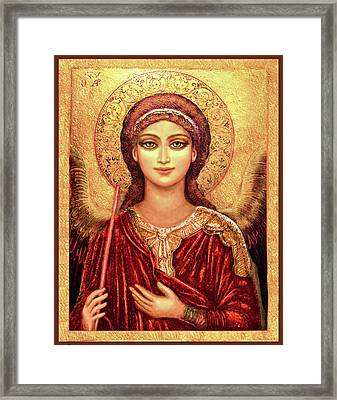 Icon Archangel In Red  Framed Print
