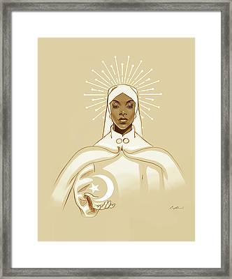 Icon Framed Print by Carey Muhammad