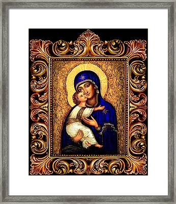 Icon Madonna Altar Framed Print by Ananda Vdovic