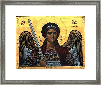 Icon Mikail Framed Print by Archangelus Gallery