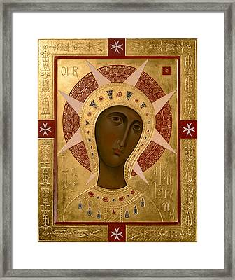 Icon Of Our Lady Of Filermo. Framed Print