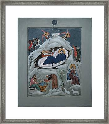 Icon Of The Nativity Of Christ Framed Print by Philip Davydov
