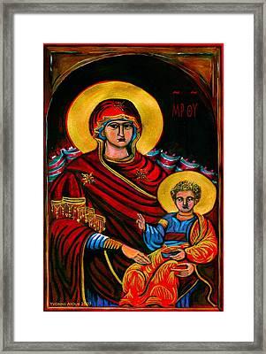 Icon  Framed Print by Yvonne Ayoub