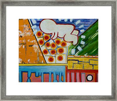 Iconic Baby Framed Print by Jose Rojas