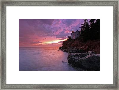 Iconic Bass Harbor Lighthouse Framed Print by Juergen Roth