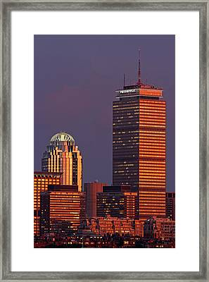 Iconic Boston Framed Print by Juergen Roth