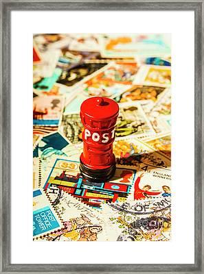 Iconic British Mailbox Framed Print