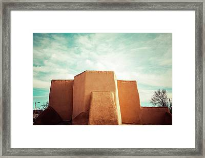 Iconic Church In Taos Framed Print by Marilyn Hunt