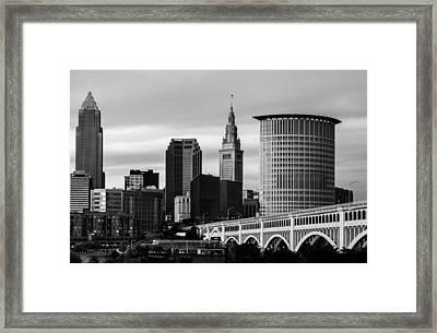 Iconic Cleveland Framed Print