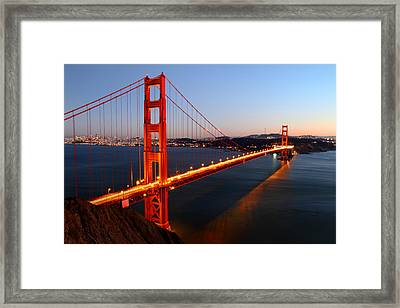 Iconic Golden Gate Bridge In San Francisco Framed Print