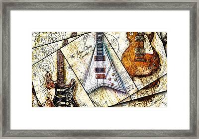 Iconic Guitars Panel 1 Framed Print