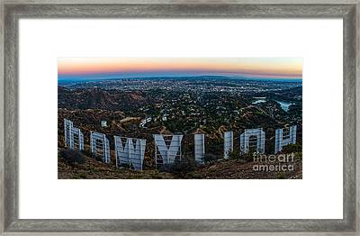 Iconic Hollywood Sunset Framed Print