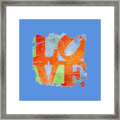 Iconic Love - Grunge Framed Print