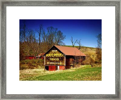 Iconic Mail Pouch Barn Framed Print by Mountain Dreams