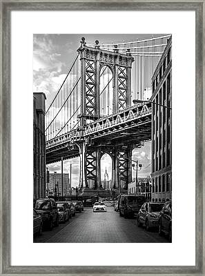 Iconic Manhattan Bw Framed Print by Az Jackson