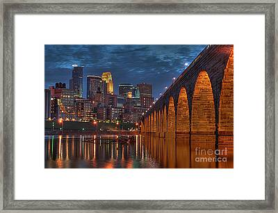 Iconic Minneapolis Stone Arch Bridge Framed Print