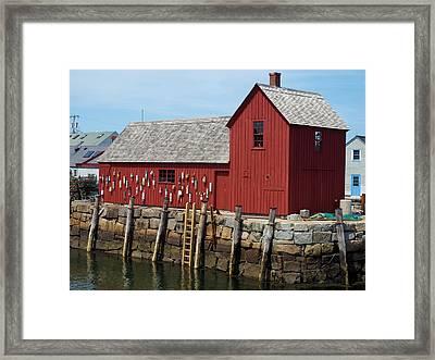 Iconic Rockport Ma Framed Print