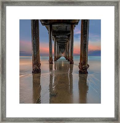 Iconic Scripps Pier Framed Print by Larry Marshall