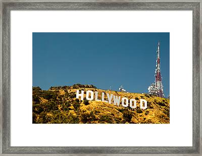 Iconic Shot - Beachwood Canyon Framed Print by Natasha Bishop