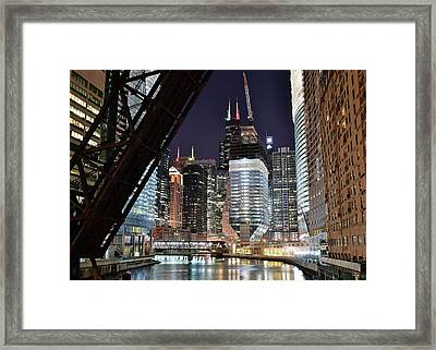 Iconic Windy City Location Framed Print by Frozen in Time Fine Art Photography