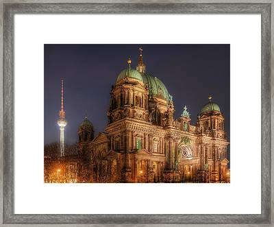 Icons Of Berlin - Germany Framed Print by Nico Trinkhaus