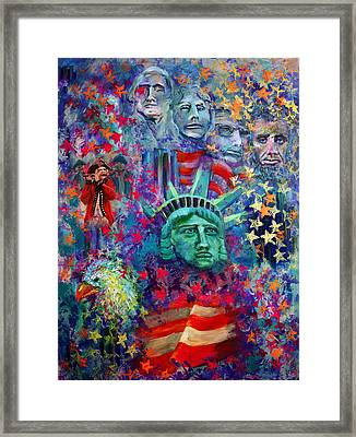 Icons Of Freedom Framed Print by Peter Bonk