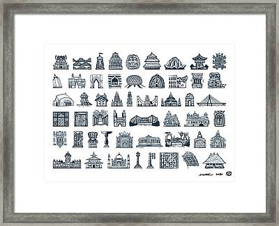 Icons Of Indian Architecture Framed Print