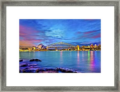 Icons Of Sydney Harbour Framed Print by Az Jackson