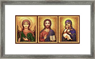 Icons Tryptichon Framed Print