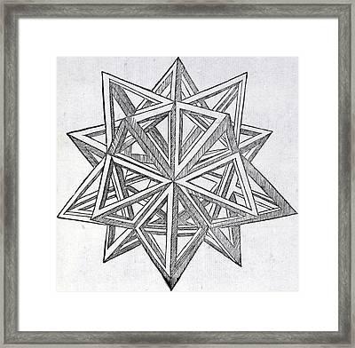 Icosaedron Elevatum Vacuum Framed Print by Leonardo Da Vinci