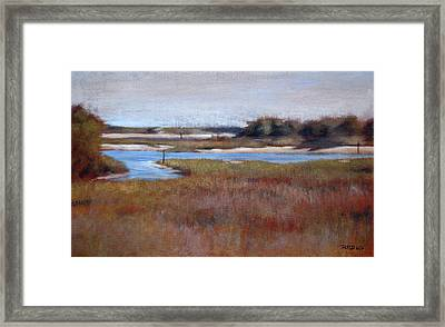 Icw Looking Toward Masonboro Framed Print